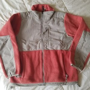 Salmon Denali North Face Fleece Zip-up Jacket